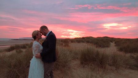 Beach Wedding Videographer Camber Sands Gallivant