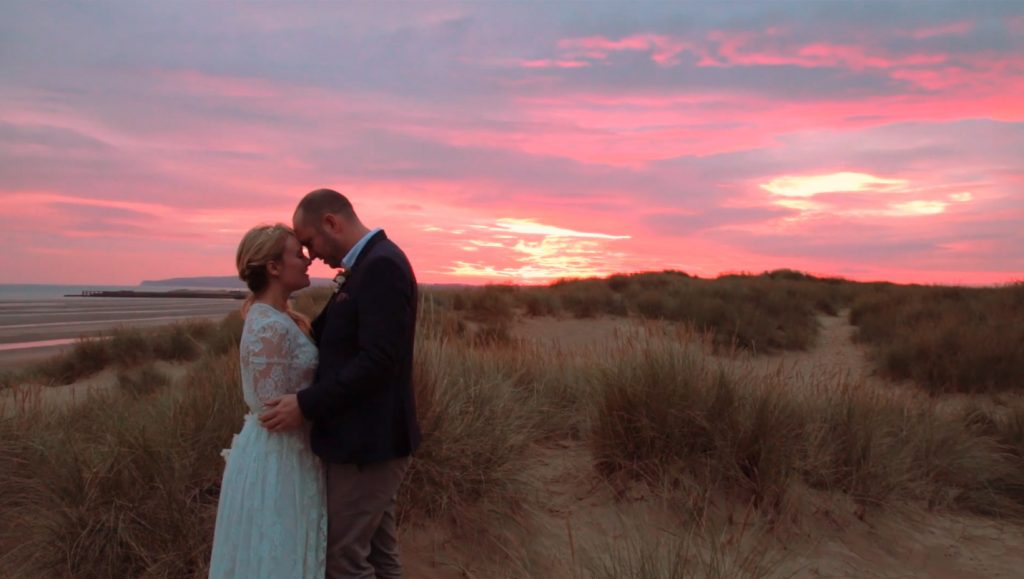 A Sunset With a Wedding Videographer On A beach In East Sussex