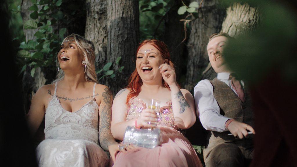having fun at wilderness weddings