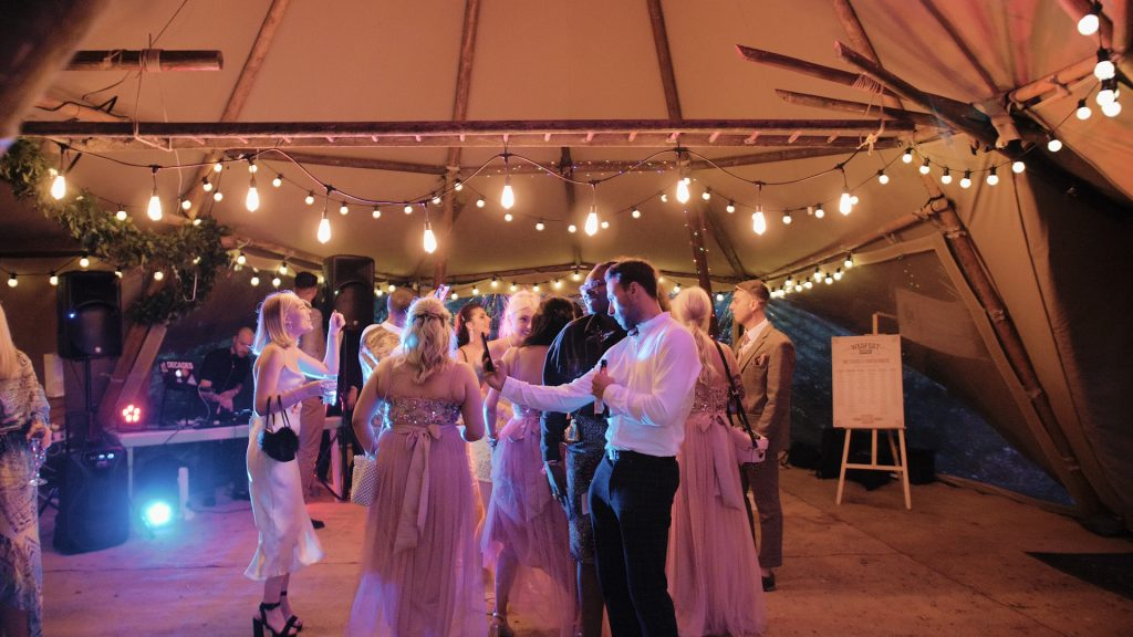guest dance at wilderness wedding venue in kent