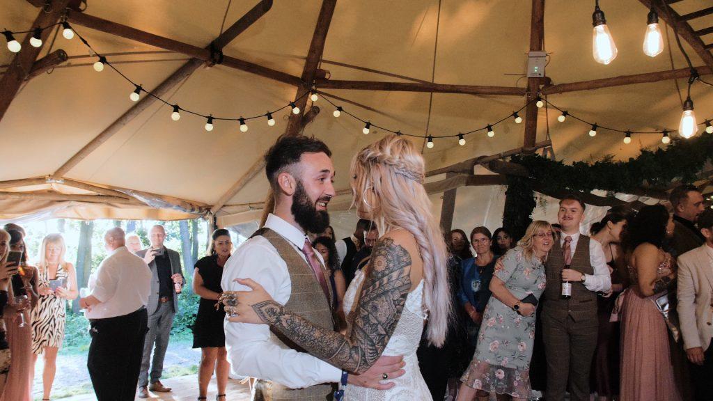 first dance at wilderness weddings