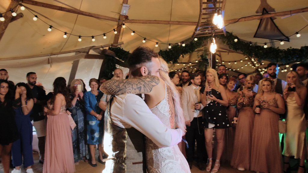 hugging during first dance