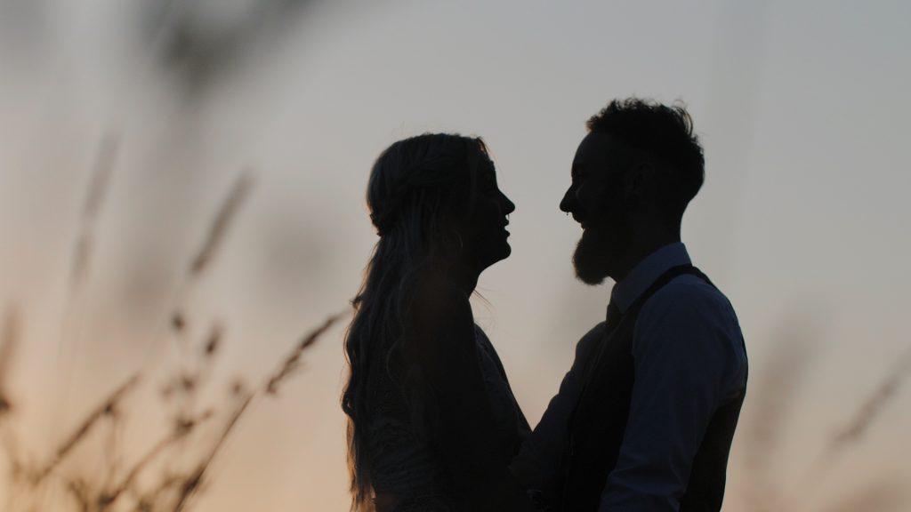wilderness wedding silhouette
